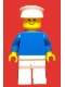 Minifig No: pln126  Name: Plain Blue Torso with Blue Arms, White Legs, White Hat