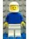 Minifig No: pln127  Name: Plain Blue Torso with Blue Arms, White Legs, White Classic Helmet