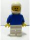 Minifig No: pln128  Name: Plain Blue Torso with Blue Arms, White Legs, White Classic Helmet, Airtanks
