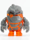 Minifig No: pm002  Name: Rock Monster - Firox (Trans-Orange)