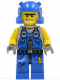 Minifig No: pm011  Name: Power Miner - Orange Scar, Helmet