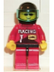 Minifig No: rac001  Name: Racing Team 1, Black Helmet, Trans-Light Blue Visor