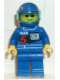 Minifig No: rac004  Name: Racing Team 5, Blue Helmet, Trans-Light Blue Visor