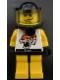 Minifig No: rac008  Name: Race - Yellow, Chip Tiger Pattern, Underwater Black Helmet