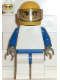 Minifig No: rac018  Name: F1 Williams Team Racer - without Torso Sticker