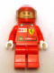 Minifig No: rac023bs  Name: F1 Ferrari - F. Massa with Helmet Printed - with Torso Stickers