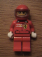 Minifig No: rac024as  Name: F1 Ferrari Driver with Helmet and Balaclava - with Torso Stickers