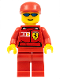 Minifig No: rac026s  Name: F1 Ferrari Truck Driver - with Torso Stickers
