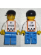 Minifig No: rac028s  Name: F1 - Cameraman - Red Hair, Orange Vest with Stickers