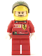 Minifig No: rac036s1  Name: F1 Ferrari - F. Massa with Helmet Yellow Printed - with Torso Stickers Vodafone Shell