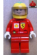 Minifig No: rac036s2  Name: F1 Ferrari - F. Massa with Helmet Yellow Printed - with Torso Stickers Shell