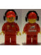 Minifig No: rac056  Name: F1 Ferrari Marshall with Torso Stickers with Shell, UPS, Ferrari, Santander and Kaspersky Logos Pattern