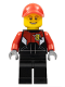 Minifig No: rac057  Name: Racing Bike Driver 1