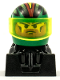Minifig No: rac086  Name: Off Road Racer - Green and Black