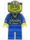 Minifig No: rck004  Name: Jet - Trans-Neon Green Visor