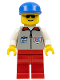 Minifig No: res002  Name: Coast Guard 1 - Red Legs, Blue Cap, Sunglasses