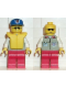 Minifig No: res006  Name: Coast Guard 1 - Red Legs, Blue Cap with Rescue Pattern, Sunglasses, Life Jacket