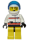 Minifig No: rsq009a  Name: Res-Q 3 - Yellow Legs and Trans-Dark Blue Visor