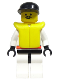 Minifig No: rsq013  Name: Res-Q 2 - Black Cap, Life Jacket