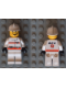 Minifig No: rsq015  Name: Res-Q 3 - White Fire Helmet, White Hips