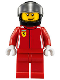 Minifig No: sc001  Name: Ferrari Race Car Driver 1