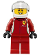 Minifig No: sc007  Name: Ferrari Race Car Driver 2