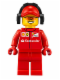 Minifig No: sc014  Name: Ferrari Pit Crew Member 2 - Sunglasses