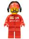 Minifig No: sc016  Name: Ferrari Pit Crew Member 4 -  Beard