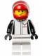 Minifig No: sc023  Name: Chevrolet Corvette Z06 Driver