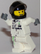Minifig No: sc042  Name: Mercedes Petronas Race Car Driver, Black Helmet