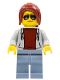 Minifig No: sc075  Name: Track Official, Female