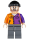 Minifig No: sh021  Name: Two-Face's Henchman, Orange and Purple - Beard