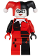 Minifig No: sh024  Name: Harley Quinn - Black and Red Hands