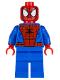 Minifig No: sh038  Name: Spider-Man - Black Web Pattern
