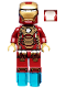 Minifig No: sh072a  Name: Iron Man Mark 42 Armor (Plain White Head)