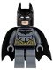 Minifig No: sh089  Name: Batman - Dark Bluish Gray Suit, Gold Belt, Dark Bluish Gray Hands