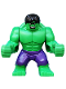 Minifig No: sh095  Name: Big Figure - Hulk with Black Hair and Dark Purple Pants