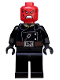 Minifig No: sh107  Name: Red Skull - Dark Brown Belt