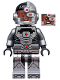 Minifig No: sh155  Name: Cyborg, Black Gloves, Smiling