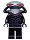 Minifig No: sh160  Name: Black Manta, Flat Silver Helmet