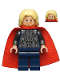Minifig No: sh170  Name: Thor - Soft Cape, Dark Blue Legs