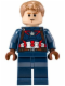 Minifig No: sh184  Name: Captain America - Detailed Suit - Dark Orange Eyebrows