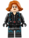 Minifig No: sh186  Name: Black Widow - Short Hair