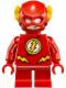 Minifig No: sh246  Name: The Flash - Short Legs