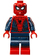 Minifig No: sh299  Name: Spider-Man - Black Web Pattern, Red Torso Large Vest, Red Boots
