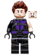 Minifig No: sh302  Name: Hawkeye - Black and Dark Purple Suit