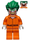 Minifig No: sh343  Name: The Joker - Prison Jumpsuit, Smile with Pointed Teeth Grin