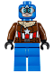 Minifig No: sh374  Name: Pilot Captain America