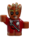 Minifig No: sh381  Name: Groot - Baby, Red Outfit with Zipper