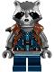 Minifig No: sh384  Name: Rocket Raccoon - Dark Blue Outfit